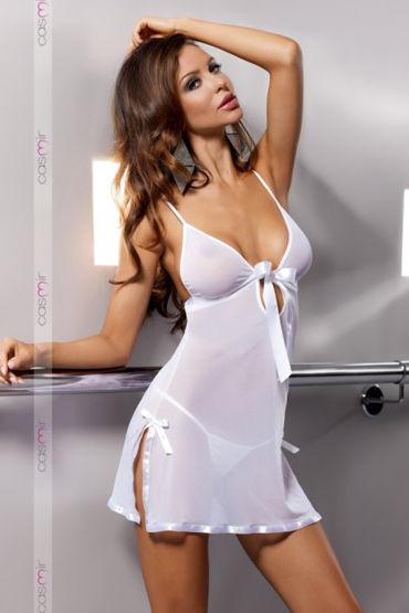 Casmir Kea, белая Откровенная сорочка и стринги beauty image термоноски на резинке 300г