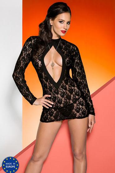 Avanua Rayen Black Сорочка с длинными рукавами и трусики платье avanua rayen black черное s m