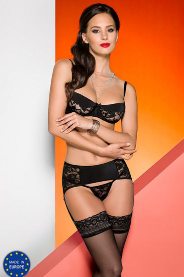 Avanua Rayen Set Black Комплект с поясом для чулок bioclon насадка для пояса harness телесная с коннектором в блистере