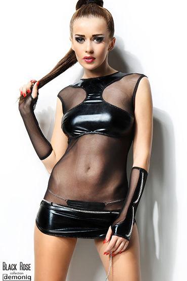Demoniq Anette Мини-платье, перчатки и трусики demoniq veronique3 черное платье и трусики