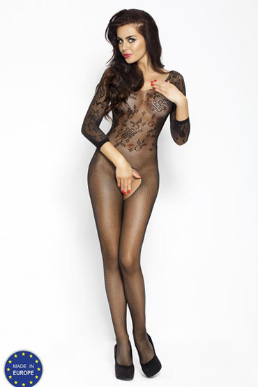 Passion Кроткая леди, черный Кэтсьют с длинными рукавами hustler all about anal butt plug розовый 12 см анальный плаг из ультра бархатистого силикона