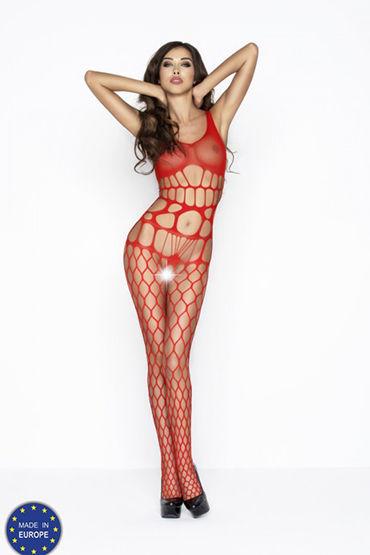 Passion Кэтсьют, красный В очень крупную сетку