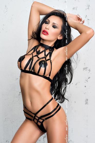 Me Seduce Aisha, черный Комплект из топа и трусиков комплект me seduce tiffany red s m