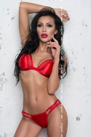 Me Seduce Isabella, красный Комплект из трусиков и бюстгальтера стринги мужские красные s l