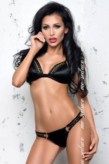 Me Seduce Isabella, черный Комплект из трусиков и бюстгальтера me seduce isabella красный комплект из трусиков и бюстгальтера