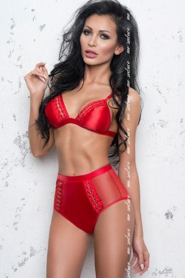 Me Seduce Olivia, красный Комплект с трусиками высокой посадки костюмы и одежда для ролевых игр flirt on