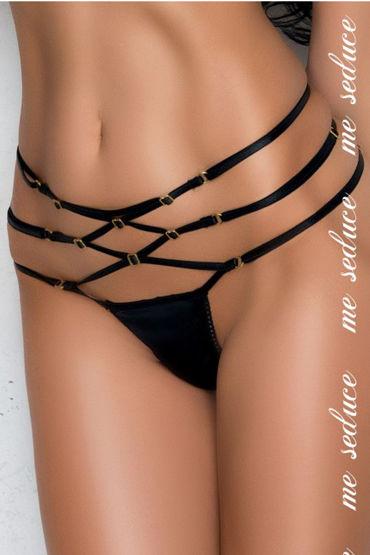 Me Seduce Rene, черные Стринги с лентами на талии rene rofe чулки сетка женской одежды