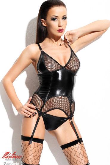Demoniq Agathe, черный Корсаж и трусики avanua eternity corset эротичный корсет с поясом и трусики