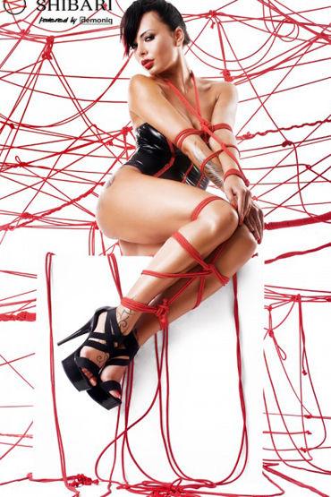 Demoniq Shibari Fumi, черное Боди без бретелей, в комплекте веревки для связывания колготки beauty inside the beast светло бежевые в сеточку с нежным узором os 42 46