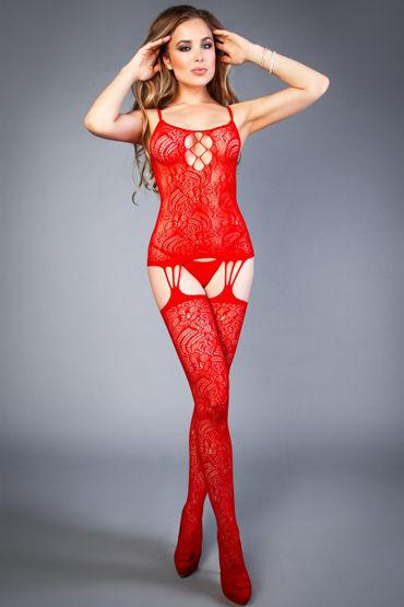 Le Frivole Impulse Боди-комбинезон, красный С вырезом на груди и бедрах erotic fantasy ass beginner dildo черный анальная пробка для начинающих
