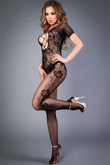 Le Frivole Impulse Боди-комбинезон, черный С руковами и вырезом на груди shirley боди черно красное в сетку со шнуровкой