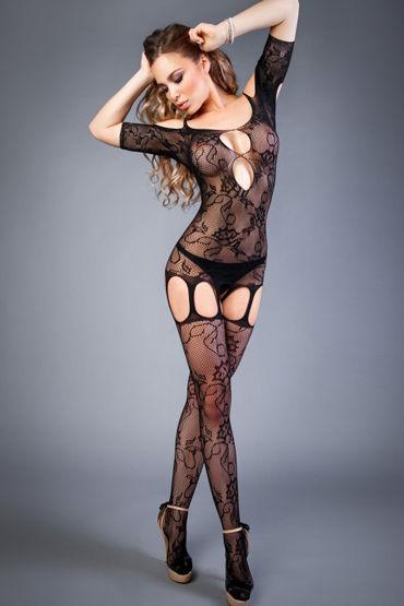 Le Frivole Impulse Боди-комбинезон, черный С вырезами на плечах, груди и бедрах т ду frivole платье с вырезами