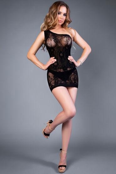 Le Frivole Impulse Платье, черное С бретелью на одно плечо le frivole роковая служанка мини платье с фартучком и чепчик