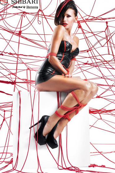 Demoniq Shibari Yukiko, черное Мини-платье и трусики, в комплекте веревки для связывания anne d ales dernier tango черное откровенное мини платье