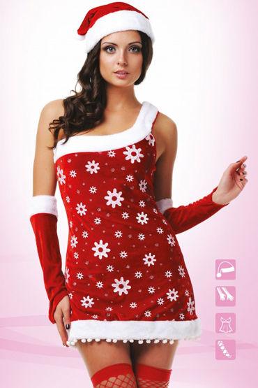 Le Frivole Костюм Снегурочки Платье, нарукавники, головной убор и чулки костюм обаятельной снегурочки 40 44