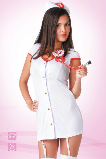 Le Frivole Доктор Любовь Коротенький халатик и чепчик le frivole похотливая медсестра халатик чепчик и лаковый пояс