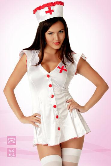 Le Frivole Медсестра Эротичный халат и головной убор ду frivole старшая медсестра и