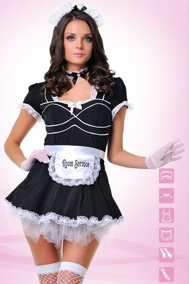 Le Frivole Служанка Платье с фартуком, перчатки, чулки и аксессуары т ду frivole платье с вырезами
