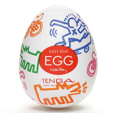 Tenga Egg Street, Keith Haring Edition Одноразовый мастурбатор в виде яйца, лимитированный выпуск мастурбатор keith haring dance