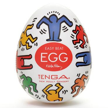 Tenga Egg Dance, Keith Haring Edition Одноразовый мастурбатор в виде яйца, лимитированный выпуск мастурбатор keith haring dance