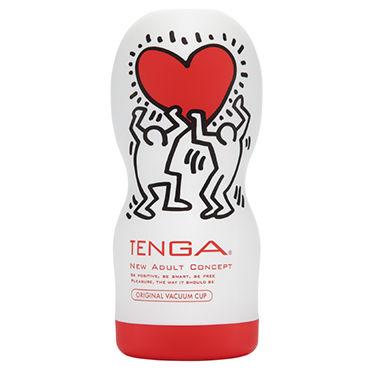 Tenga Original Vacuum Cup, Keith Haring Edition Мастурбатор, имитирующий оральные ласки, лимитированный выпуск эрекционное кольцо pretty love chester с вибрацией