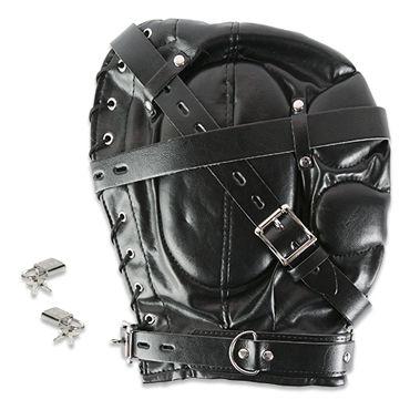 Пикантные штучки БДСМ-маска закрытая С маленьким отверстием страпоны и фаллопротезы для мужчин длина 16 18 см