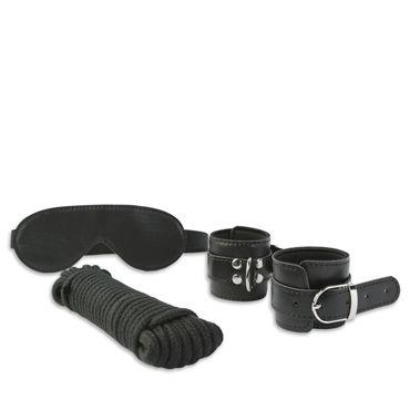 Пикантные штучки Набор для бондажа с веревкой Маска и манжеты sitabella плеть красная двухсторонняя из латекса