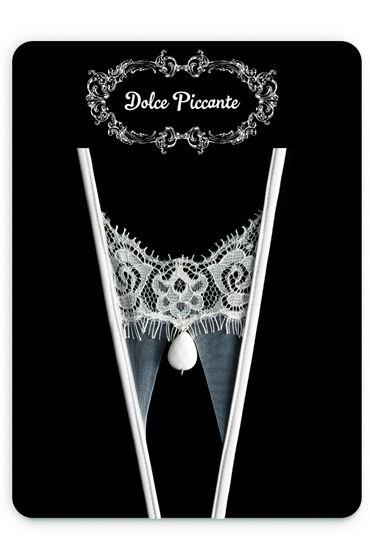 Dolce Piccante Goccia Открытые трусики Из французского кружева Экрю dolce piccante la fiore открытые трусики белые из французского кружева экрю
