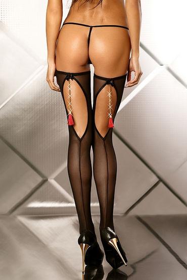 Lolitta Boudoir Stockings, черные Чулочки с кисточками multi colors women exotic sexy open crotch cross belt stockings pantyhose
