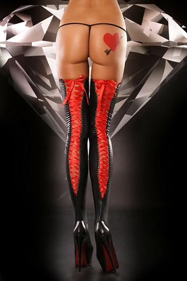 Lolitta Lacing Stockings, черные Чулки на красной шнуровке lolitta lacing stockings черные