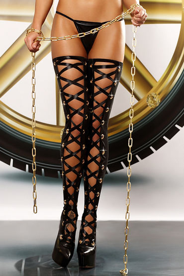 Lolitta Bizarre Stockings, черные Чулки со шнуровкой lolitta lacing stockings черные