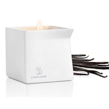 JimmyJane Afterglow Massage Candle Dark Vanilla, 125г Свеча для массажа с ароматом темной ванили shots toys bottom line butt plug model 6 13 см черная анальная елочка
