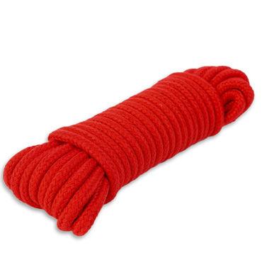 Пикантные штучки Веревка для связывания 10 м, красная С прочным плетением хлопковая веревка lux fetish 3 м для связывания красная
