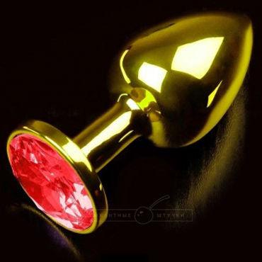Пикантные штучки Маленькая пробка, золотая С красным кристаллом bioclon lovething plug nozzle