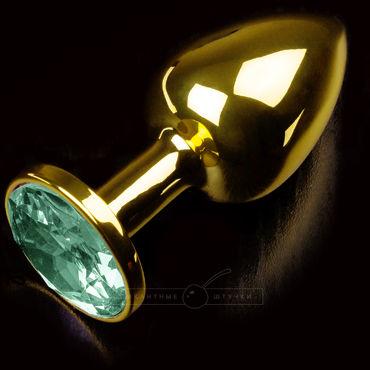 Пикантные штучки Маленькая пробка, золотая С изумрудным кристаллом night размер шрифта сексуального нижнее белье черной марля маленькая горничная форма искушение костюм