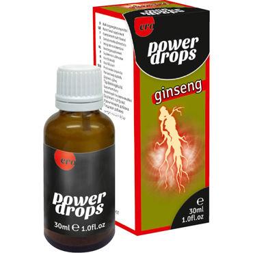 Hot Power Drops Ginseng, 30 мл Возбуждающие капли для мужчин я цинь в интимном уходе за кожей мокрой ткани 22 нетканого материалом для ухода за ткань салфетка средства алоэ пакета 10