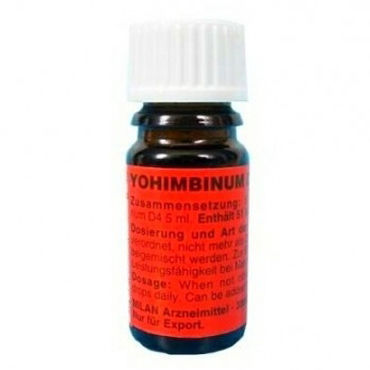 Milan Yohimbinum D4, 5 мл Возбуждающие капли на основе йохимбина hot power drops ginseng 30 мл возбуждающие капли для мужчин
