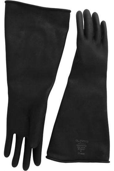 Mister B Thick Industrial Rubber Gloves, черные