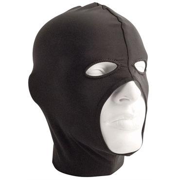 Mister B Lycra Cocksucker Hood, черная Маска на голову с прорезью для рта и глаз эрекциональные кольца на член цвет прозрачный