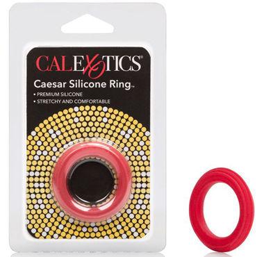 California Exotic Caesar Silicone Ring, красное Эрекционное кольцо классическое california exotic magnum support plus single girth cages серое широкое эрекционное кольцо