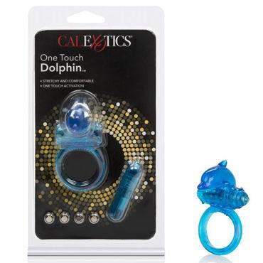 California Exotic One Touch Dolphin, синее Эрекционное кольцо с дельфинчиком