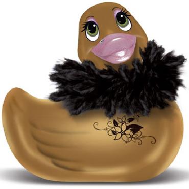 BigTeaze Toys I Rub My Duckie Paris, золотая Мини-уточка для ванны - вибратор bigteaze toys i rub my kitty розовый вибратор кошка