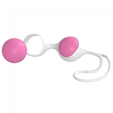 Minx Discretion Love Balls, бело-розовые Вагинальные шарики вагинальные шарики lia love balls purple