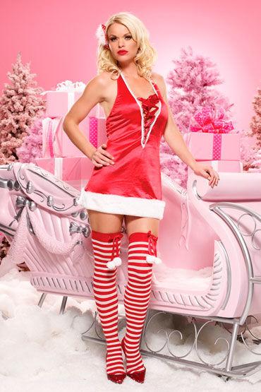 Leg Avenue Санта Красное атласное платье leg avenue новогодний наряд платье и стринги