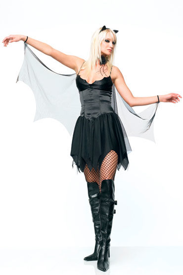 Leg Avenue Летучая мышь Платье с крыльями и ушками leg avenue платье экстравагантный клубный наряд