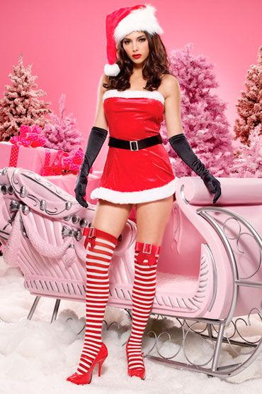 Leg Avenue Новогоднее платье Мини-платье с ремнем leg avenue новогодний наряд платье и стринги