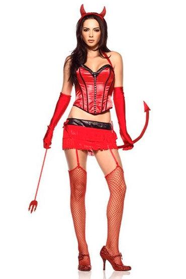 Leg Avenue Красный дьявол Очаровательный эротический наряд leg avenue платье экстравагантный клубный наряд