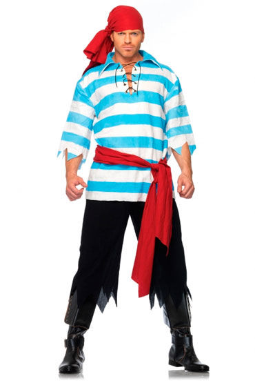 Leg Avenue Пират С красным поясом и косынкой leg avenue пират с красным поясом и косынкой