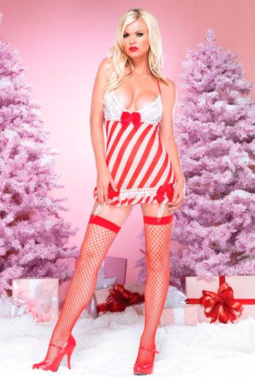 Leg Avenue Новогодний наряд Платье и стринги leg avenue платье экстравагантный клубный наряд
