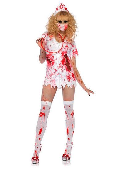 Leg Avenue Кровавая Бэтти С медицинской маской и чепчиком hjnbxtcrbt маски цвет синий ю